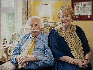 Portrait of Eric and Maureen painting by Simon Taylor